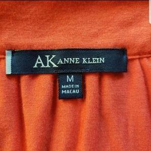 Anne Klein Tops - AK Anne Klein Braided Drape Tank Top Orange Med